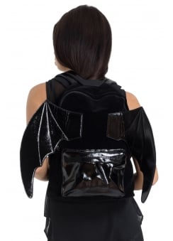 Bat PU Gothic Backpack