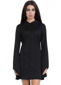 Black Hoodie Gothic Dress