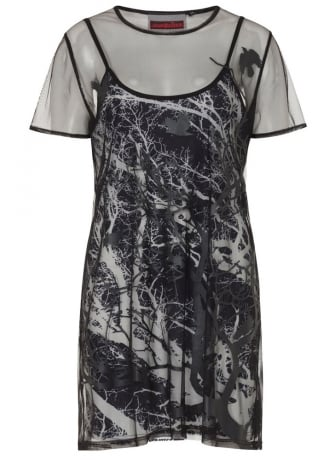 Jawbreaker Clothing Branch & Crow Double Layered Gothic Dress