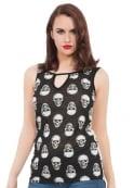 Jawbreaker Clothing Monotone Skull Top
