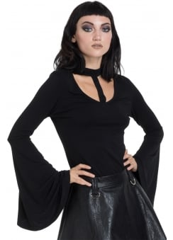 Mystic Bell Sleeve Gothic Top