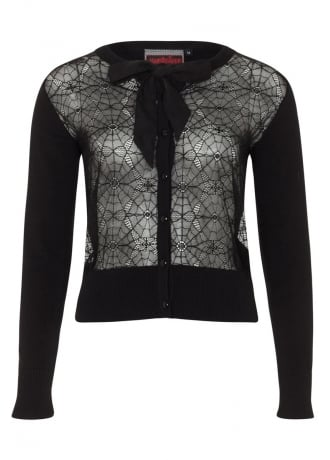 Jawbreaker Clothing Web Lace Gothic Cardigan