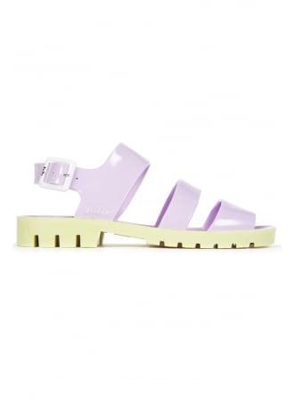 JuJu Baby Lilac Yellow Daisy Jelly Shoe
