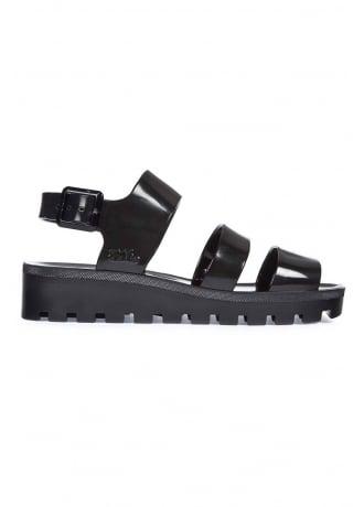 JuJu Black Poppy Jelly Shoe