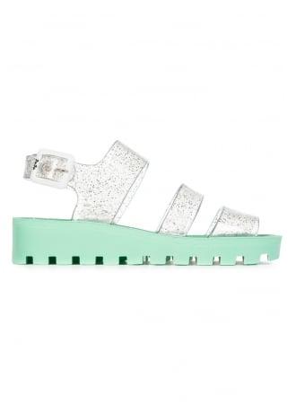 JuJu Multi Glitter Baby Green Poppy Jelly Shoe