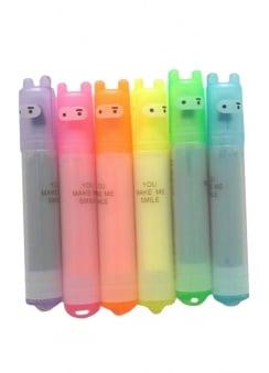 Kawaii Ninja Rabbit Mini Highlighter Pens