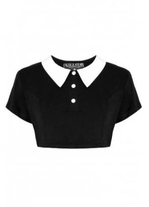 Addams Crop Top
