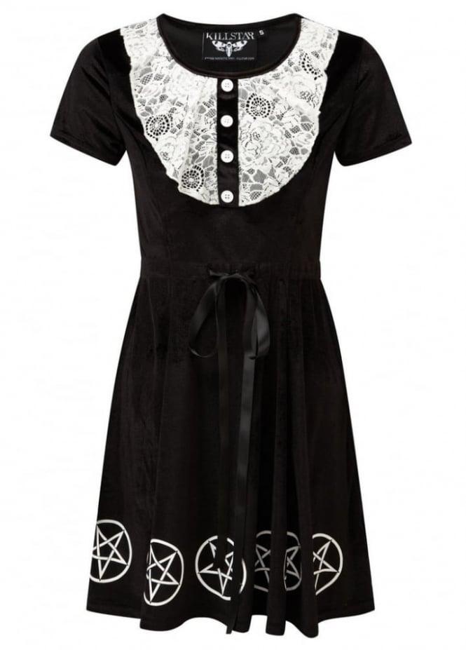 Killstar Quinn Velvet & Lace Dress