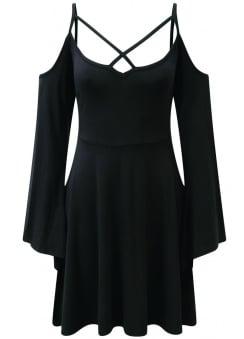 Séance Angel Sleeve Skater Dress