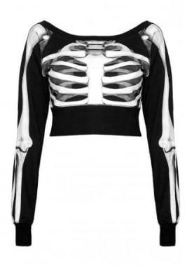 Skeletor Crop Sweater