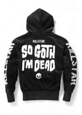 So Goth Velvet Hoodie