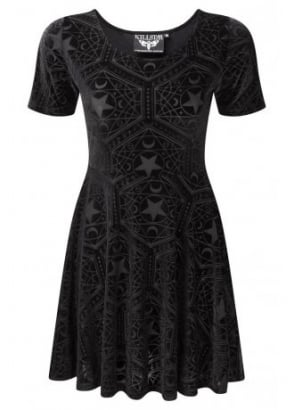 Stargazer Velvet Skater Dress