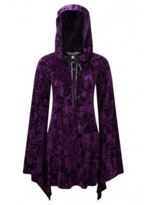 Velvet Witch Hood Dress