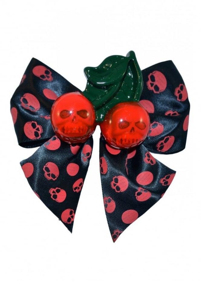 Kreepsville 666 Cherry Skull Hair Bow