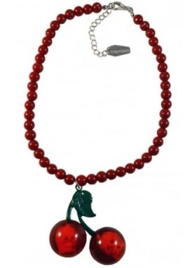 Cherry Skull Red Necklace