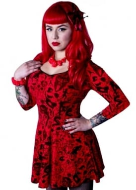 Devil Made Me Do It Skater Dress