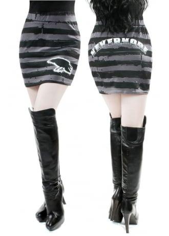 Kreepsville 666 Nevermore Striped Mini Skirt