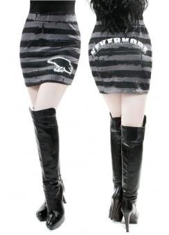 Nevermore Striped Mini Skirt