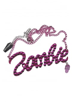 Pink Diamante Zombie Necklace