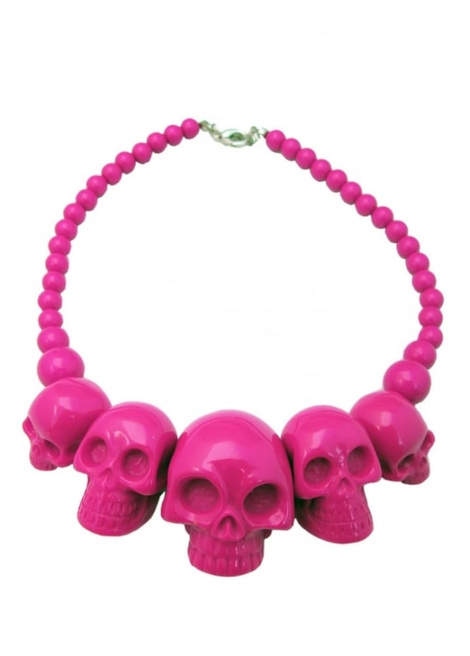Kreepsville 666 Pink Skull Collection Necklace