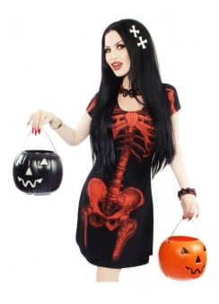 Skeleton Halloween Flare Dress