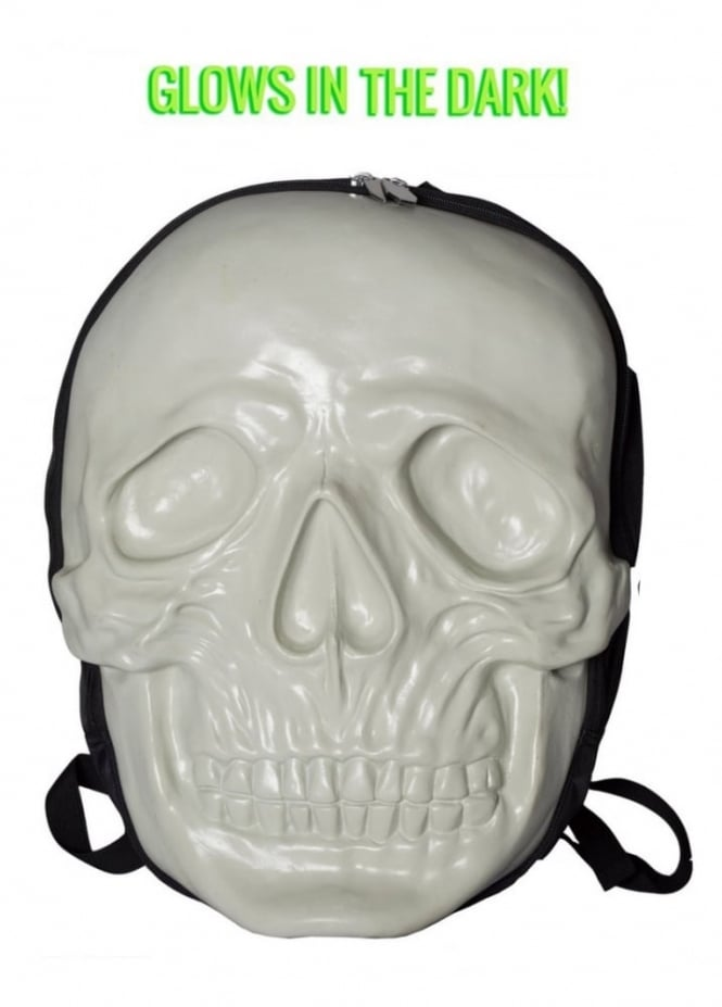 Kreepsville 666 Skull Backpack Natural Glow