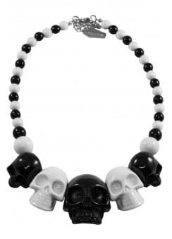 Skull Collection 2 Tone Necklace