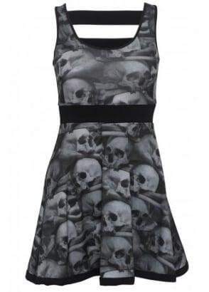 Skull Pile Penny Dress