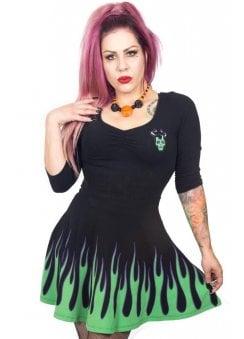 9a77f6de31 Villain Flame Skater Dress · Kreepsville 666 ...