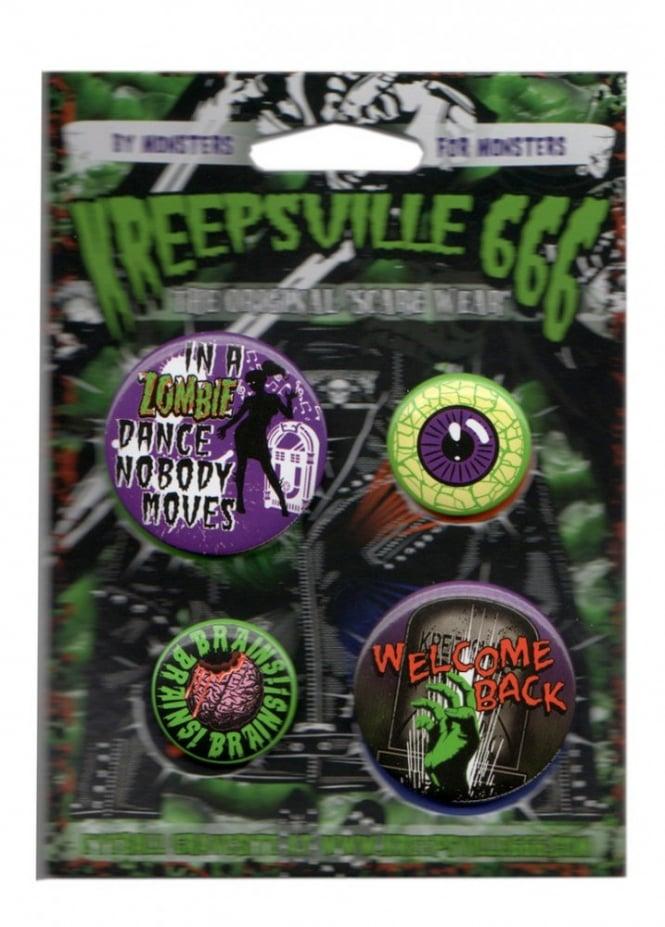 Kreepsville 666 Zombie Badge Set
