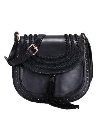 Laced & Studded Shoulder Bag