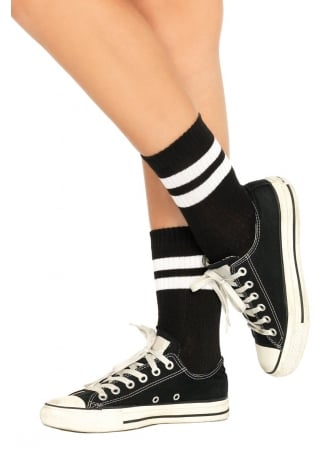 Leg Avenue Athletic Striped Anklets
