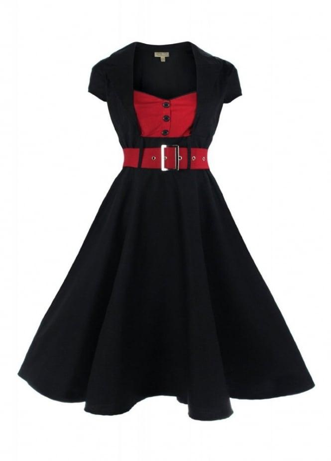 Lindy Bop Geneva Dress | Attitude Clothing