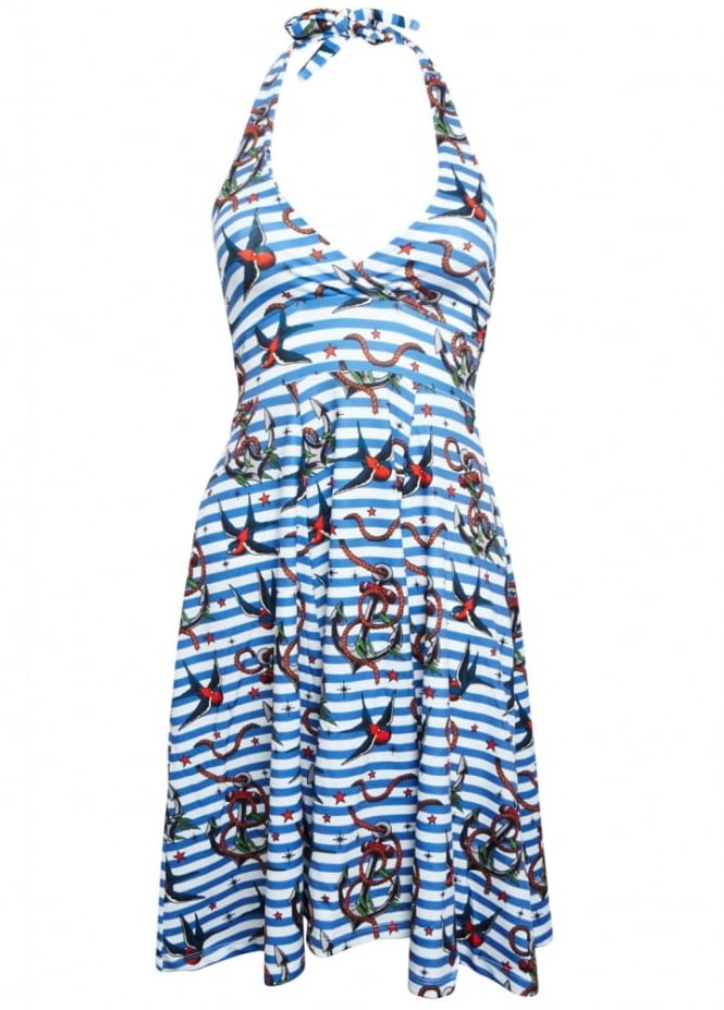 Liquorbrand Anchors Birds Monroe Dress