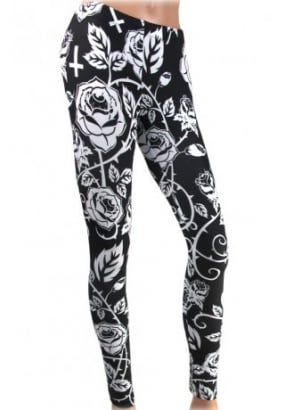 Black Roses Leggings