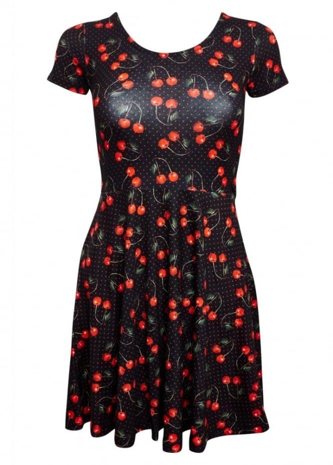 Liquorbrand Cherries Art Skater Dress