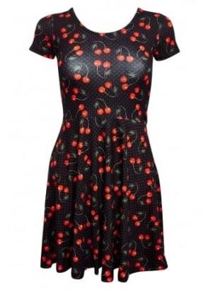 Cherries Art Skater Dress