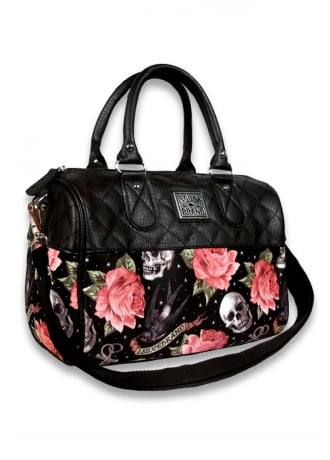 Liquorbrand Rose Tattoo Quilted Bag