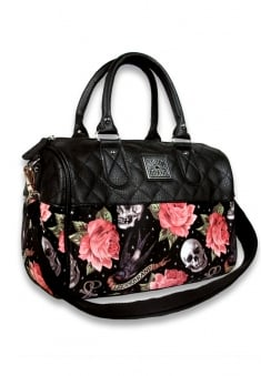 Rose Tattoo Quilted Bag