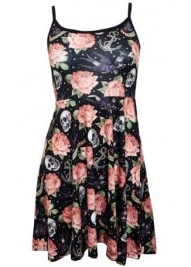 Rose Tattoo Strap Dress