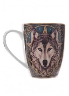 Lisa Parker Wolf Head Bone China Mug