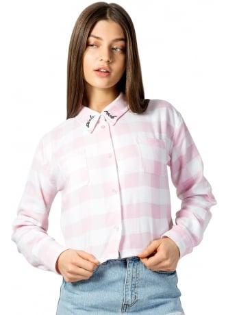 Local Heroes Girls Rock Plaid Shirt