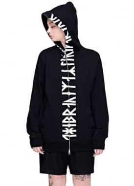 Runic Zip Up Hooded Top