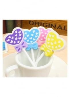 Love Heart Lollipop Eraser