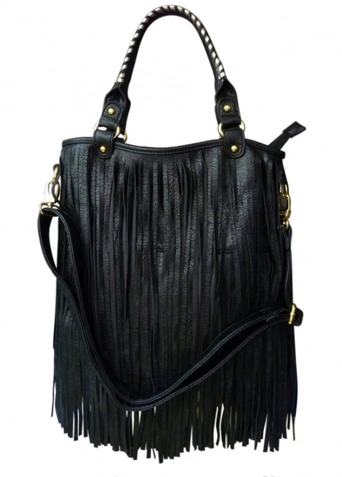 LYDC London Long Fringe Bag