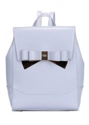 Metallic Double Bow Backpack