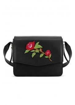 Rose Embroidered Handbag