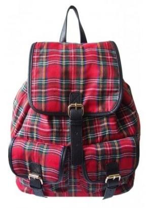 Tartan Drawstring Backpack