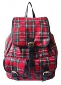 LYDC London Tartan Drawstring Backpack