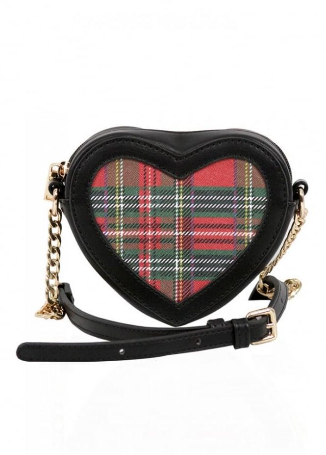 LYDC London Tartan Heart Mini Shoulder Bag